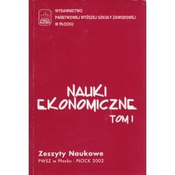 Nauki Ekonomiczne Tom I