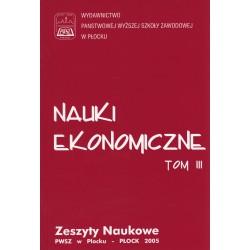 NAUKI EKONOMICZNE TOM III