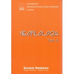 Neofilologia Tom IX